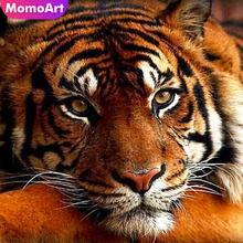 MomoArt 5D Diamond Painting Animal Mosaic Full Drill Square DIY Embroidery Tiger Home Decoration