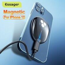 Essager 15W تشى المغناطيسي شاحن لاسلكي ل فون 12 11 برو ماكس البسيطة X 8 السحر التعريفي سريع اللاسلكية شحن الوسادة ل أبل