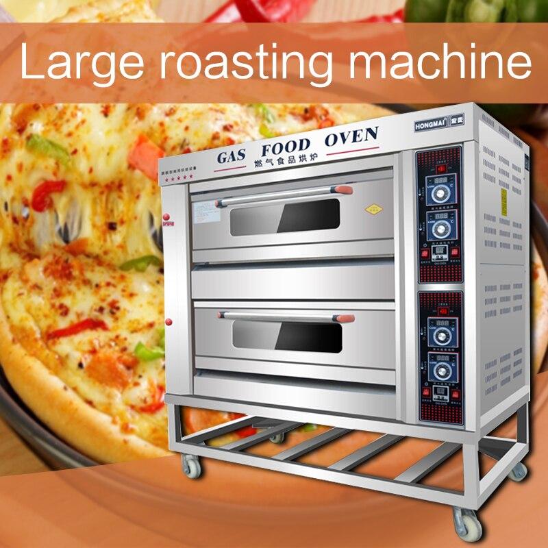 220 В/200 Вт газовая печь из нержавеющей стали, коммерческая большая печь для выпечки, многофункциональная печь для пиццы, хлеба, торта