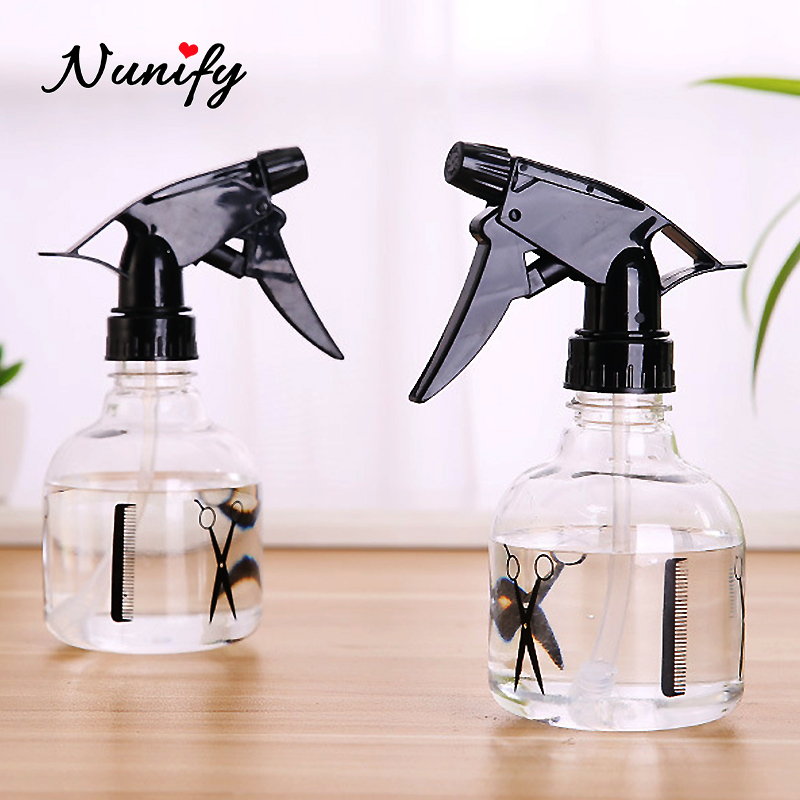 250Ml Plussign Hair Salon Haircut Hairdressing Water Spray Empty Bottle Sprayer Refillable Bottle Barber Styling Cutting Tool