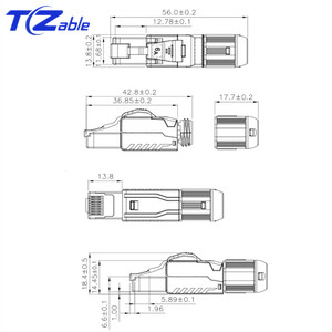 Image 2 - Cat7 RJ45 Ethernet Cable Connector Tool Free Crimping Shielded Ethernet Adapter 8p8c RJ45 Terminal Plug Networking Connectors