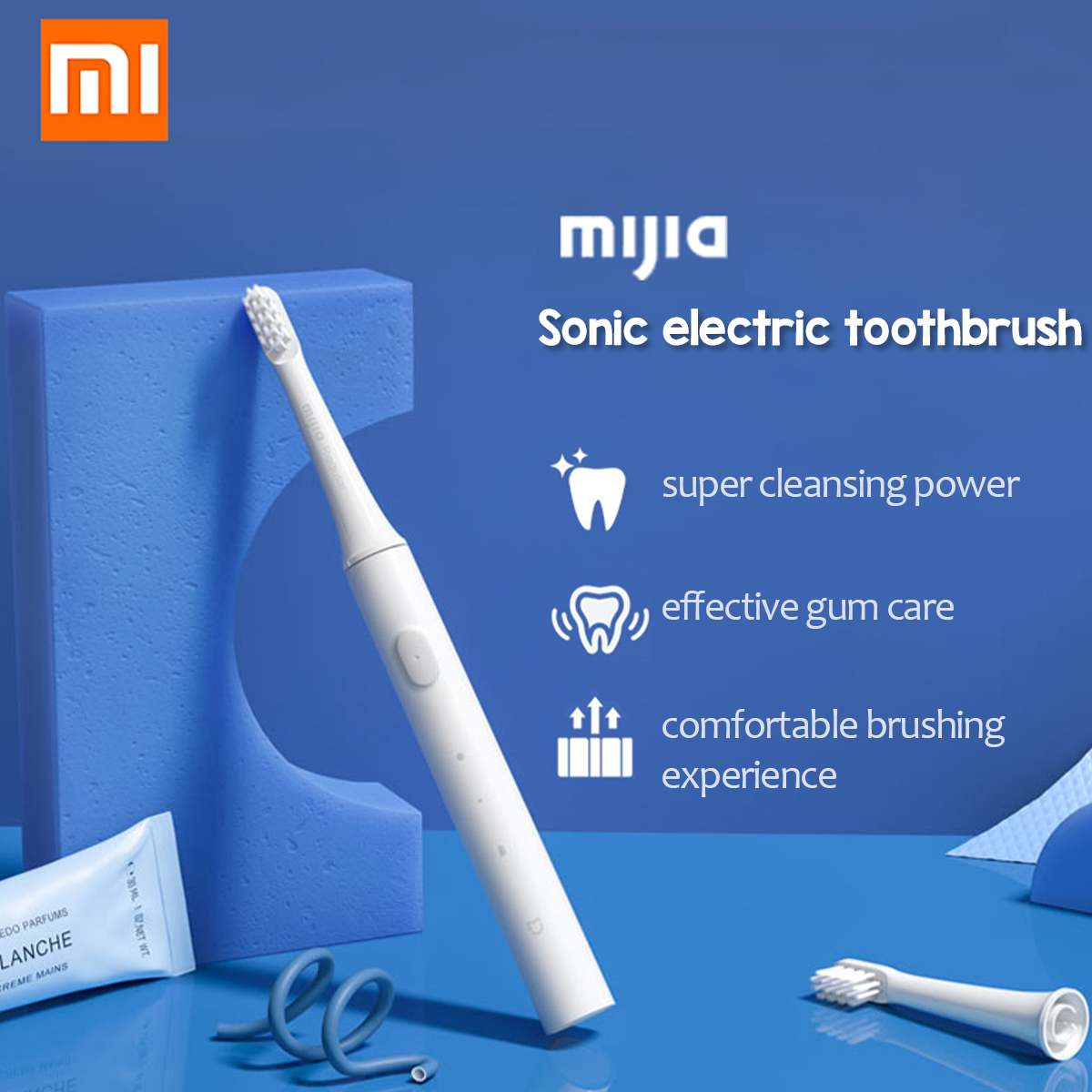 Xiaomi Mijia Sonic-Electric Toothbrush Adult Waterproof Ultrasonic Automatically Toothbrush 16500rpm 360° All-round Cleaning