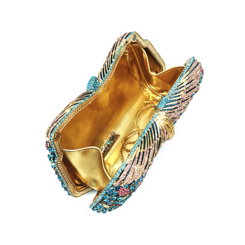 Hollow Out Flower Crystal Evening Clutch   5