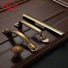 Manija de gabinete estilo retro AOBT, manija de bronce amarillo para puerta de cocina, armario, cajones, tiradores antiguos, tiradores de tocador, tiradores de muebles