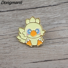 BG042 Dongmanli Bird Cute Animal Metal Enamel Pins and Brooches for Lapel Pin Backpack Bags Badge Collar Jewelry enamel bird shape with rhinestone on branches brooches