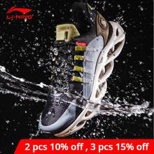 Li-ning mężczyźni LN ARC poduszki do biegania buty do noszenia wodoodporna podszewka Li Ning powłoki wody buty sportowe trampki ARHP245 cheap LINING CN (pochodzenie) Światło runing Amortyzację Betonowej podłodze Początkujący Dla dorosłych Buty do biegania