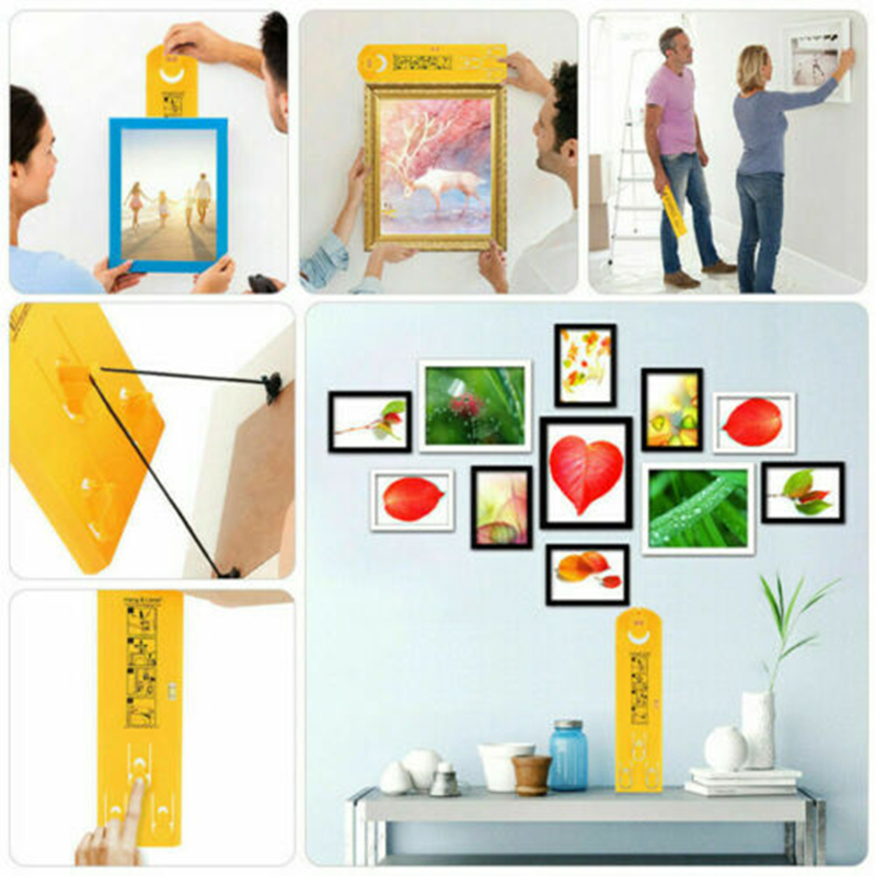 Frame Hanger Easy Wall Hanging Tool Hang /&Level Picture Hanging Level Home Decor
