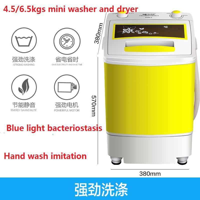 Mini Turbo Washer Small-Scale Cleaning Machine Mini Washing Machine Electric Compact Laundry Machines Portable Washer Energy Saving with Portable USB for Underwear Socks Pink