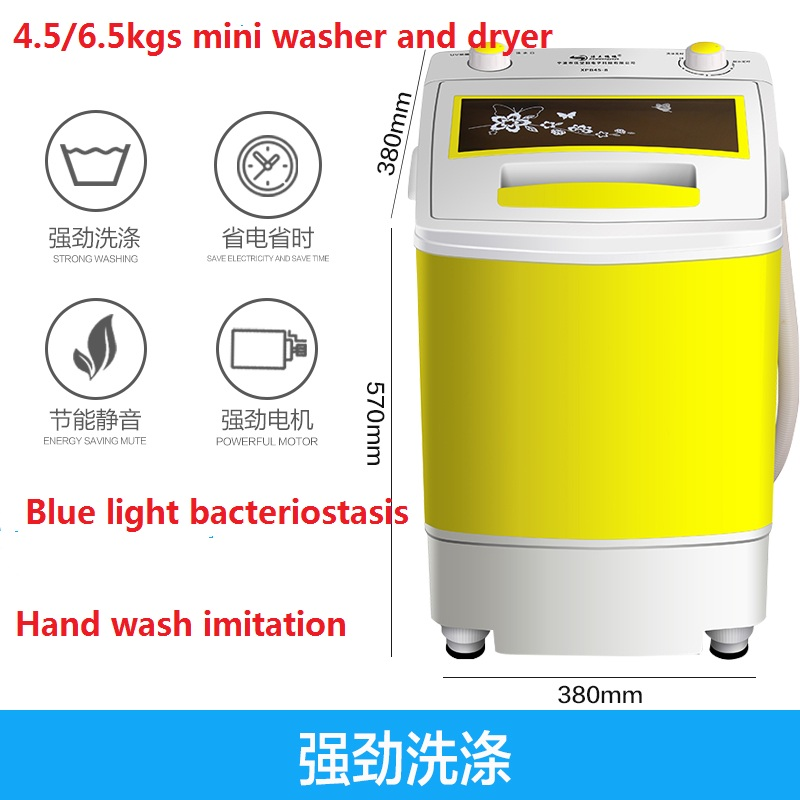 4.5/6.5kgs Household Small Washer And Dryer  Portable Washer Machine  Clothes Washer  Mini Laundry Machine Mini  Clothes Washer