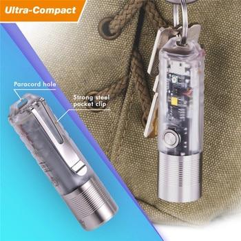 1000 Lumens Multipurpose EDC Flashlight USB Rechargeable Mini LED Keychain Light Portable UV Flashlight