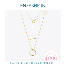 Enfashion klasik düğüm kolye kolye paslanmaz çelik altın renk gerdanlık kolye kadınlar için uzun zincir takı Collier