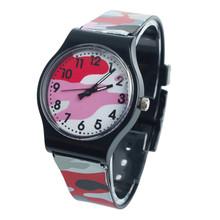 Nowy silikonowy kamuflaż zegarek dla dzieci zegarek kwarcowy dla dziewczynek chłopiec zegarek studencki urodziny prezenty dla dzieci zegar Relogio Infantil tanie tanio WHooHoo Nie wodoodporne SPORT QUARTZ Z tworzywa sztucznego Klamra CN (pochodzenie) Szkło 23cm Nie pakiet 31mm ROUND 15mm