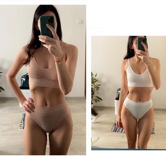 Set of Sport Bra & Panties (Push Up) Underwear