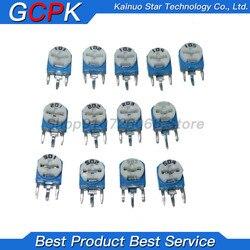65 pçs/lote RM063 Trimmer Potenciômetro Resistor Ajustável Kit 500R 50 20 10 5 1K K K K K 100K 200K 500K Resistores Variáveis 1M RM-063