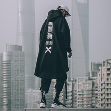 Retro cloak trench coat loose hiphop women 2020 Men's clothes Harajuku oversized hooded Sweatshirt hoodie dark streetwear man