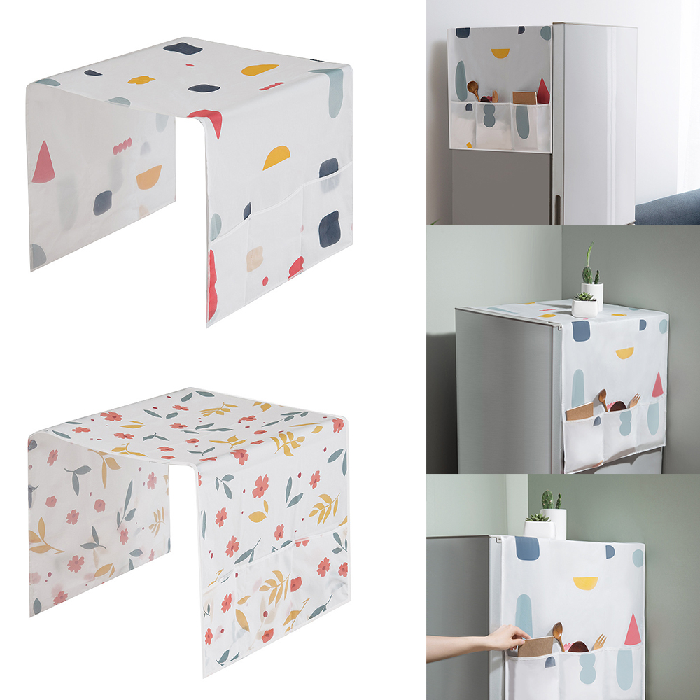 Kitchen Waterproof Refrigerator Covers Anti-Dust Microwave Cover With Storage Bag For Home Clean Accessories Supplies