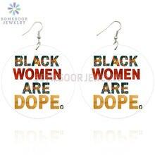 Somesoor с обеих сторон Печатный черных женщин dope деревянные