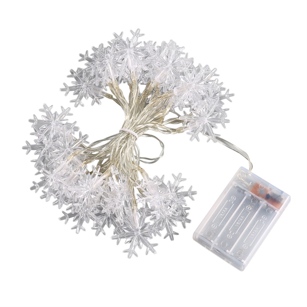 30 LED Bulb Model Snow Ball Fairy String Light Xmas Party Battery Operated Day White