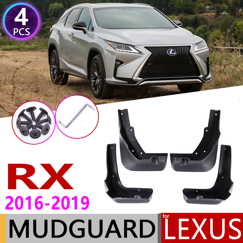 Mudflap for <font><b>Lexus</b></font> RX <font><b>RX350</b></font> RX450h RX200T RX350L F-sport 2016~2019 Fender Mud Guard Splash Flaps Mudguards <font><b>Accessories</b></font> 2017 <font><b>2018</b></font> image