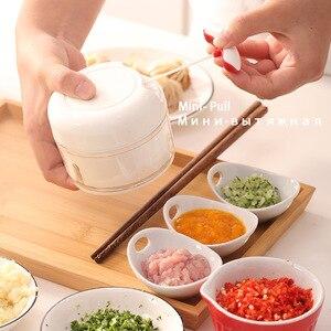 Image 2 - AMINNO Mini Gemüsehacker Fleischwolf Zerkleinerer für Babynahrung, Mixer Blender zum Hacken von Fleisch, Obst und Gemüse
