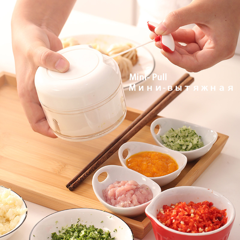 Image 1 - AMINNO Mini Vegetable Chopper Mincer Shredders for baby foods, Mixer Blender to Chop Meat Fruit VegetableManual Meat Grinders   -