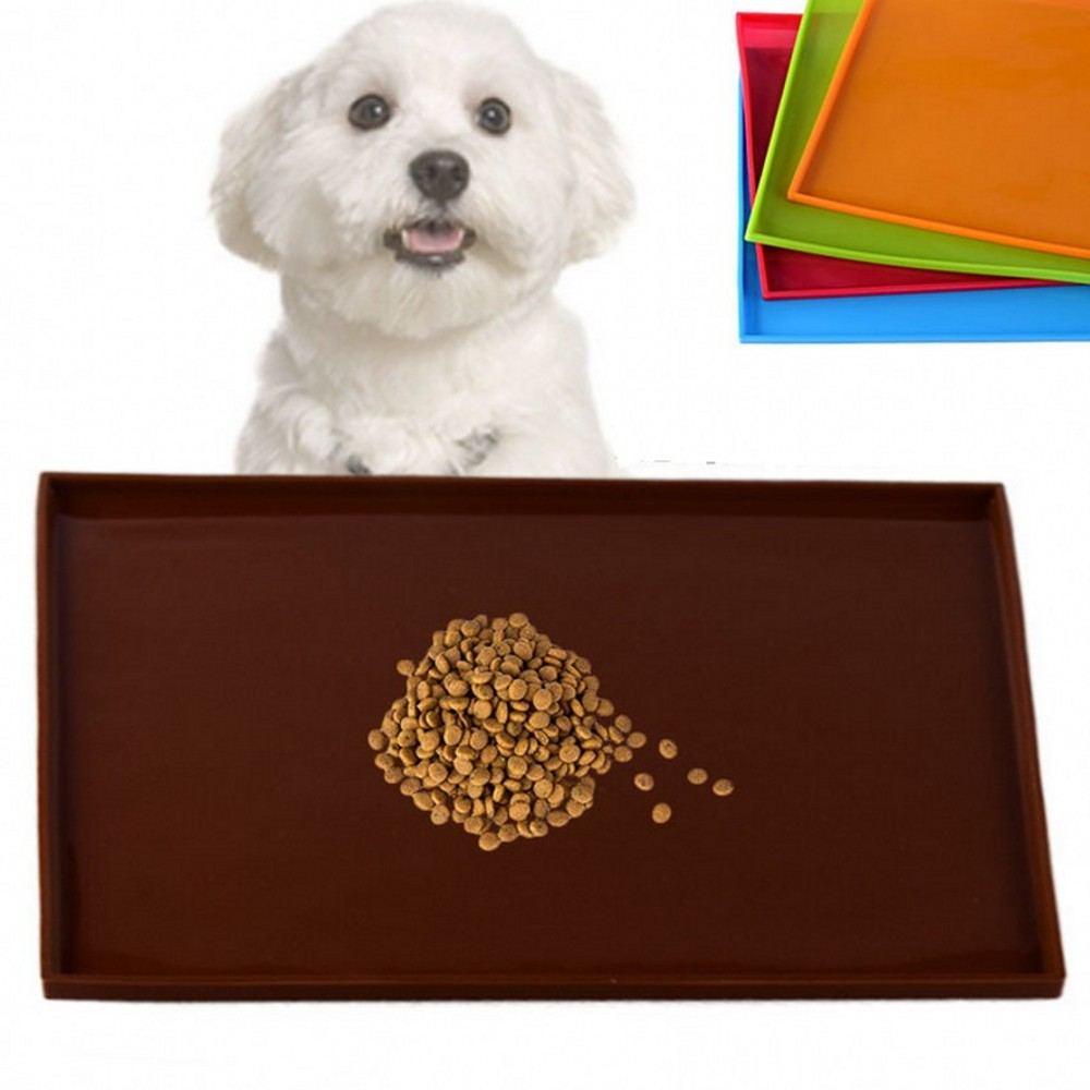 2020 New Pet Feeding Pad Waterproof Dog Placemat Spillproof Food Silicone Mat 31*26cm Pets Puppy Cat Non Slip Bowl Mat For Dogs