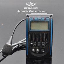 5 Band LC 5 Micro โทรศัพท์กีตาร์อะคูสติกกีตาร์ EQ Preamp 5 Band EQ Equalizer Pickup TUNER LCD สำหรับ Acoustic Guita