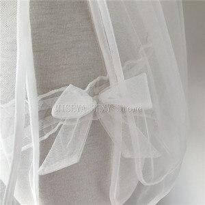 Image 4 - Pyjama de mariage blanc recommandé pour lété, ensemble avec nœud avant et dos nu hauts short, Lingerie Sexy
