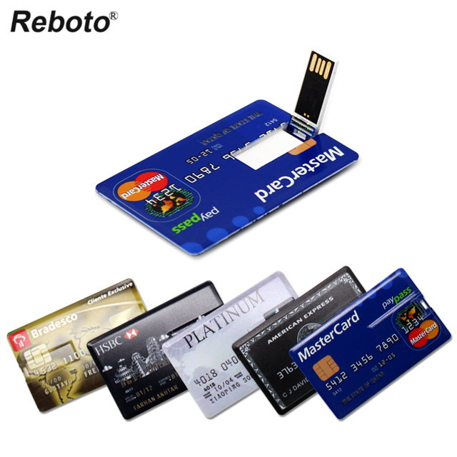 USB Flash Drive High Speed Bank Credit Card USB Flash Pen Drive 4GB 8GB 16GB Pendrive 32GB 64GB USB флэшка Memory Disk USB Stick 1