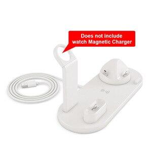 Image 3 - 10W Sạc Không Dây Qi Cho Đồng Hồ Apple Airpods Pro Type C USB 3 Trong 1 Nhanh Đế Sạc cho iPhone 11 XS 8 Samsung S20