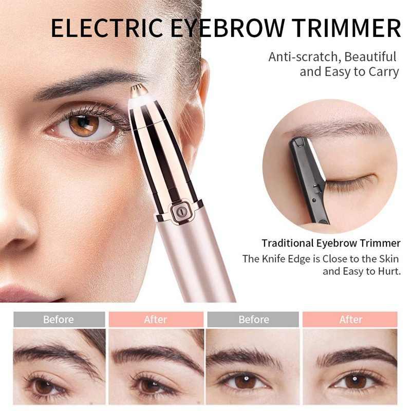 ANLAN 電気眉毛トリマーシェーバー女性眉毛無痛脱毛ペンメイクミニ目眉かみそり、ポータブル脱毛器
