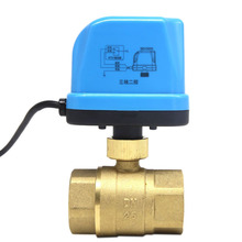 24V Dn15 Electric Two-Way Valve Three-Wire Two-Control One-Control Mini Electric Ball Valve hand integrated electric ball valve three wire two control ac220v electric two way three way internal thread ball valve