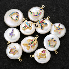 ZHUKOU 18 стилей высокое качество жемчужный кристалл кулон для ручной работы DIY ожерелье серьги браслет ювелирные аксессуары Модель: VD513
