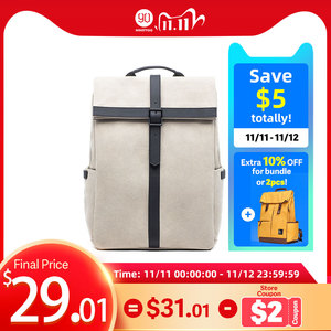 Image 1 - NINETYGO 90FUN Grinder Oxford Casual Backpack 15.6 inch Laptop Bag British Style Bagpack for Men Women School Boys Girls