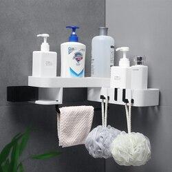Kitchen Bathroom Organizer Corner Rotating Storage Rack Holder Shower Wall Shelf Bathroom Accessories