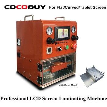Máquina laminadora LCD Novecel Q5 laminadora al vacío OCA para menos de 11 pulgadas pantalla plana/pantalla curva/tabletas LCD reparación de la máquina