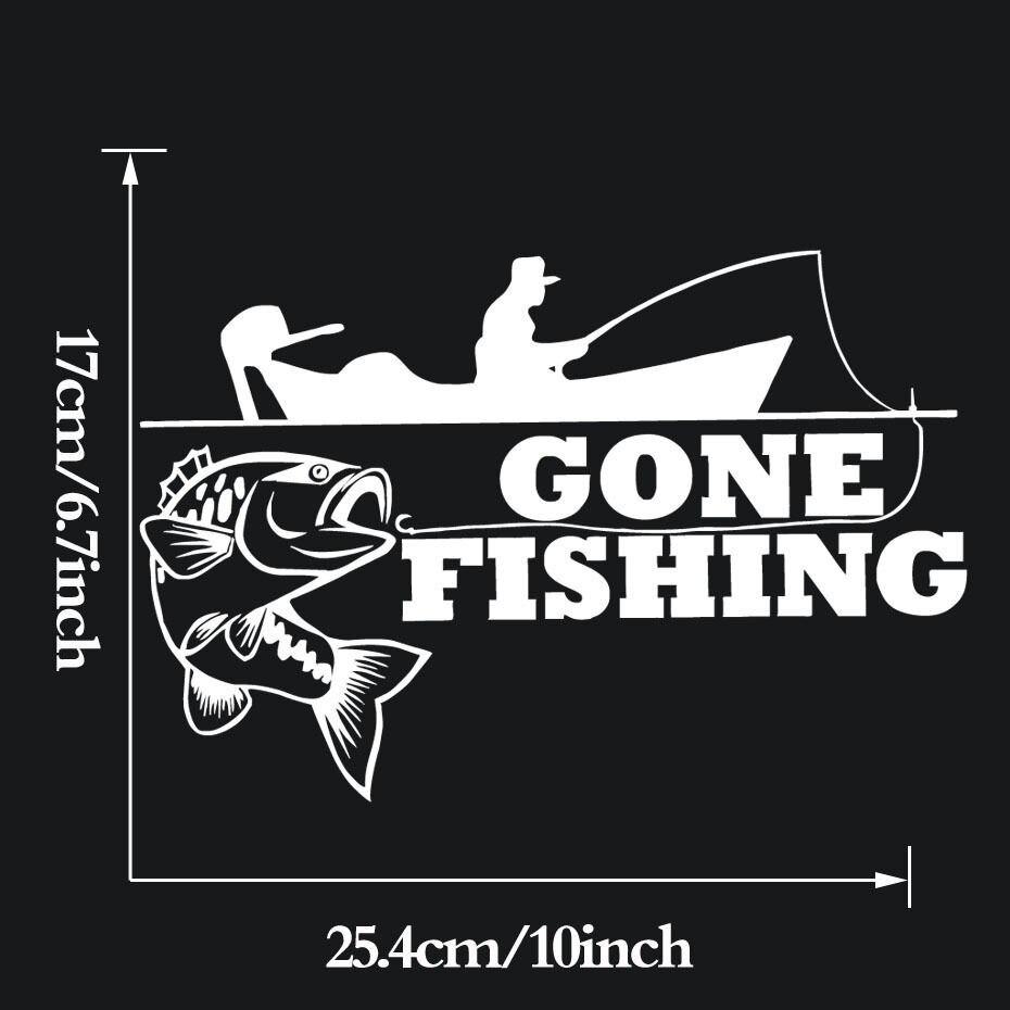 Large Funny Fishing Pole Rod Fisherman Car Truck Window Vinyl Decal Sticker.