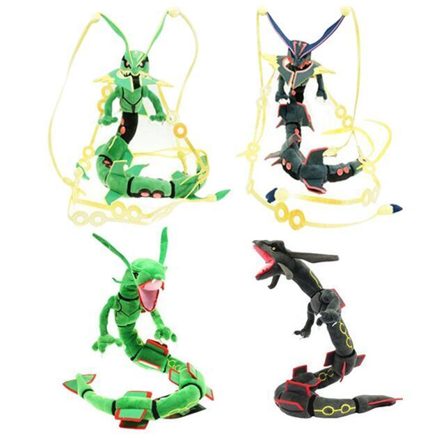 80CM Mega Rayquaza Black Rayquaza Animal Plush Peluche Doll With Skeleton Soft Stuffed Hot Toy Christmas Gift For Children