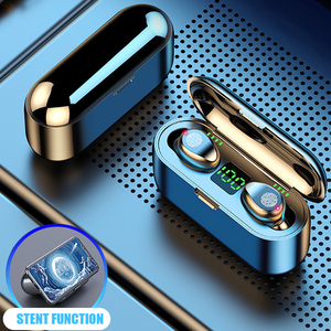 F9 TWS Bluetooth Headphone 5.0 Touch Control Wireless Headset LED Power Display Earphone Gaming Auriculares Support Dropshipping(China)