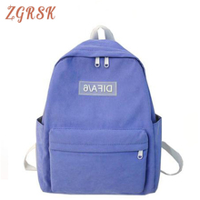 Women Fashion Cotton Backpack Bagpack Female Soft Back Pack Schoolbag For Teenage Girls Lovely Bookbags