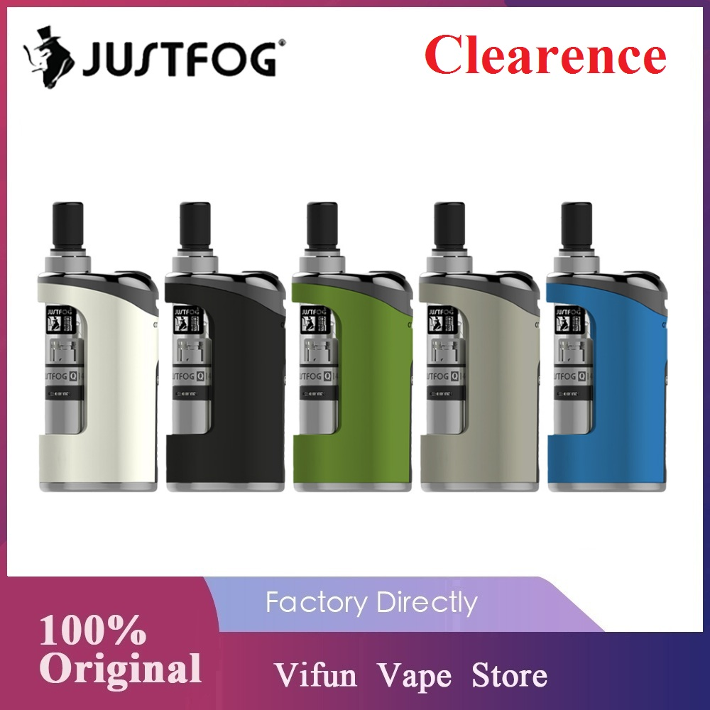 New Year Sale Original Justfog Compact 14 Kit 1500mah Built-in Battery 1.8ml Q14 Clearomizer Tank Vape Kit Vs Justfog Q16 Pro
