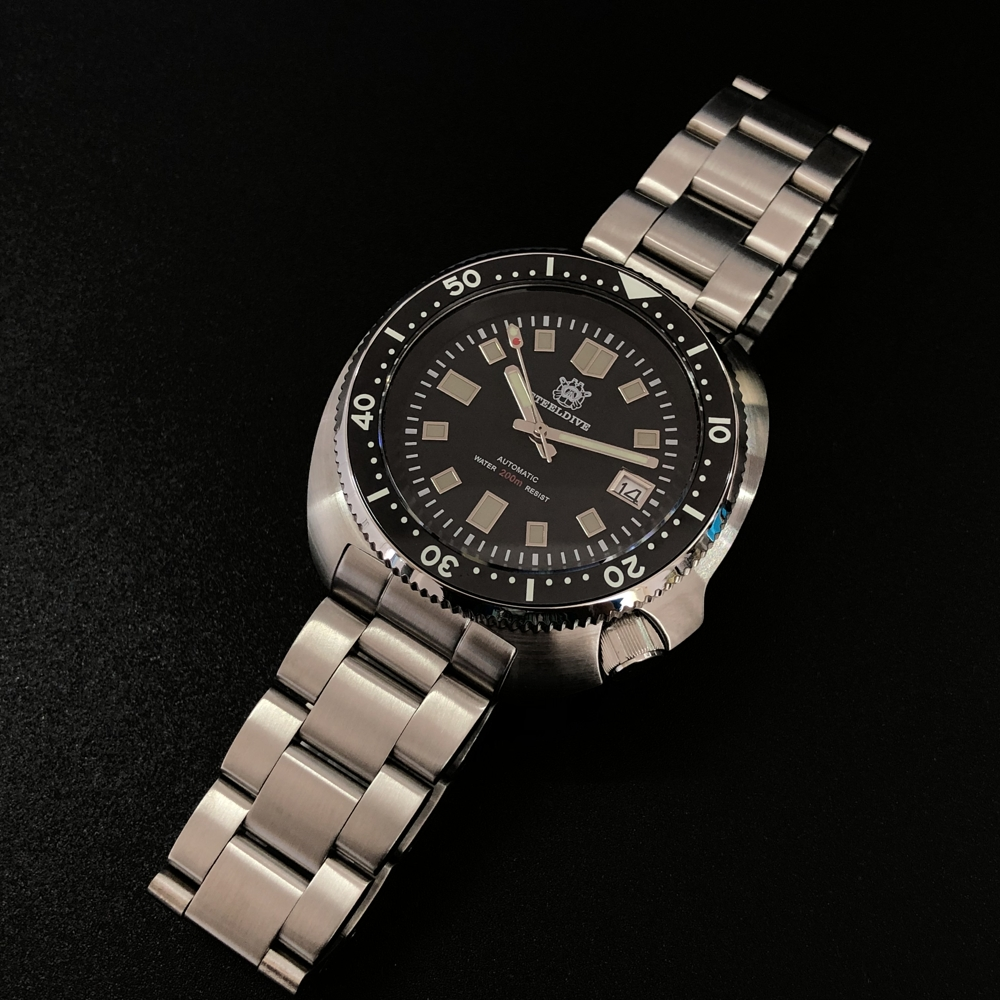 Steel Dive Abalone Dive Watch 200M Waterproof Automatic Watch Men Sapphire Crystal Stainless Steel NH35 Automatic Mechanical Men