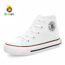 Kids shoes for girl children canvas shoes boys sneakers 2019 Spring autumn girls shoes White High