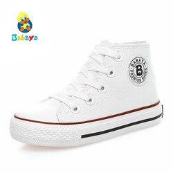 Sapatas dos miúdos para a menina crianças sapatos meninos sapatilhas sapatos de lona 2019 Primavera outono Crianças sapatos da moda meninas sapatos Brancos de Alta Sólida