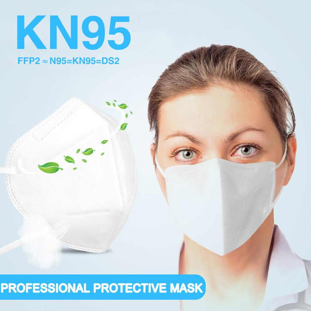 In Stock KN95 Safety Face Mask PM2.5 Particle Filter Respirator  Prevention Protective Masks Dustproof Mask For Kids Adult
