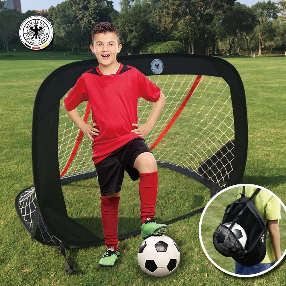 2020 NEW Portable Soccer Goal Folding Pop-Up Play Goal Set Soccer Net For Kids Futball Goal Practice Shooting Toy Equipment