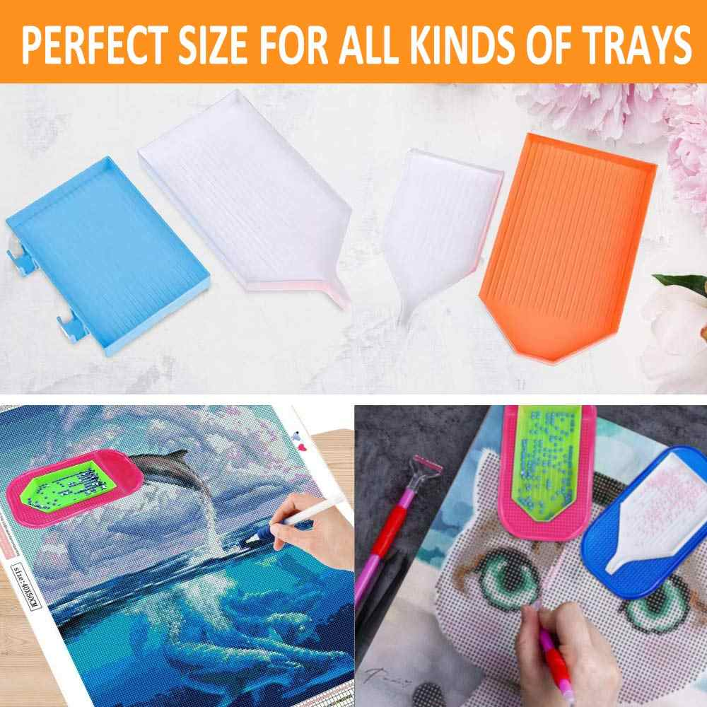 7 Pieces Anti-Slip Tools Sticky Mat Diamond Painting Tray Holder Mat Non Slip Sticky Gel Pad Universal Mount Holder 5.6 x 3.3 Inch for Holding Tray 5D Diamond Embroidery Accessory Kits for Kid Adult