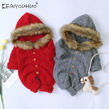 Baby Girl Clothes Autumn Winter Coat Baby Boy Jumpsuit Cotto