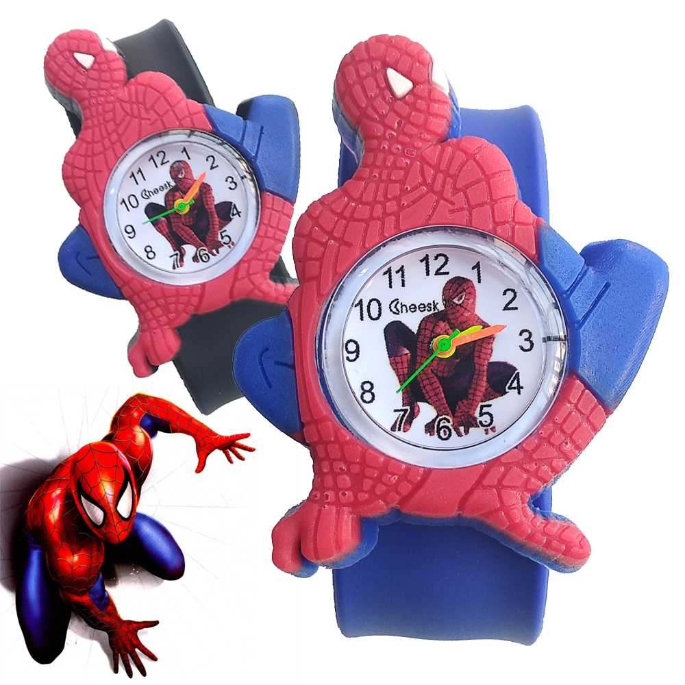 2019 New Hot Spiderman Watch Children Gift For Boys Clock Pink Rubber Men Watch For Kids Girl Plastic Child Quartz Wristwatches