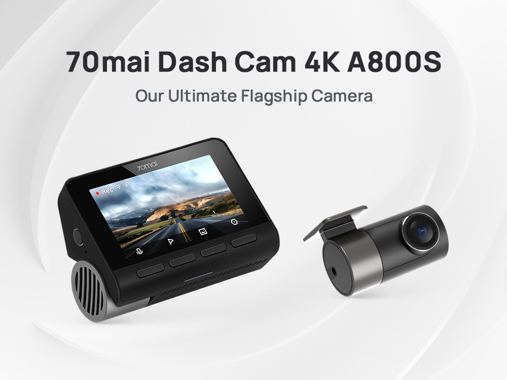 70mai Dash Cam 4K A800S Dual Sight 70mai A800S GPS ADAS Front and Rear Car DVR 2160P 4K 24H Parking 140FOV|DVR/Dash Camera| - AliExpress
